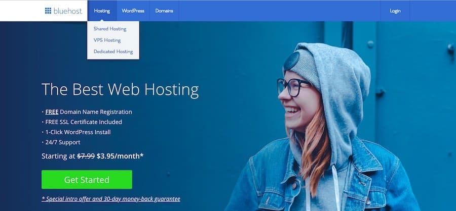 Bluehost Shared Web Hosting Service -