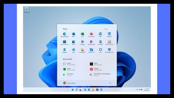 Microsoft Windows 11 New Start Button