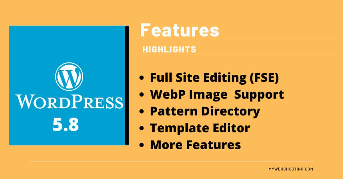 What are the new features in WordPress 5.8?